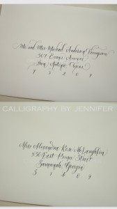 fresh and less-formal calligraphy styles for envelopes