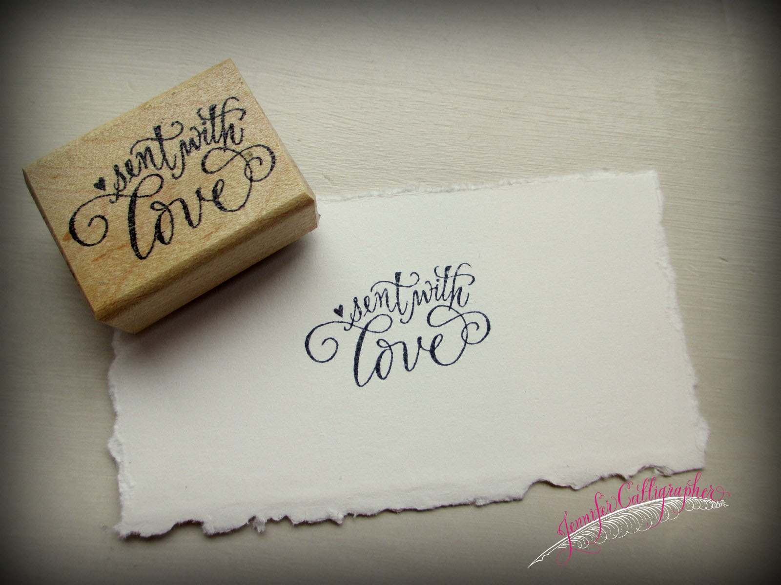 Rubber stamps in calligraphy jennifer calligrapher
