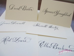 spencerian place cards jennifercalligrapher