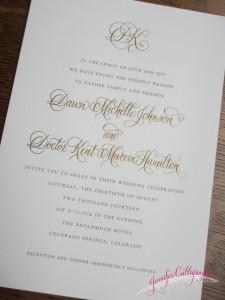 wedding invitation calligraphy jennifercalligraphy moderncalligraphy