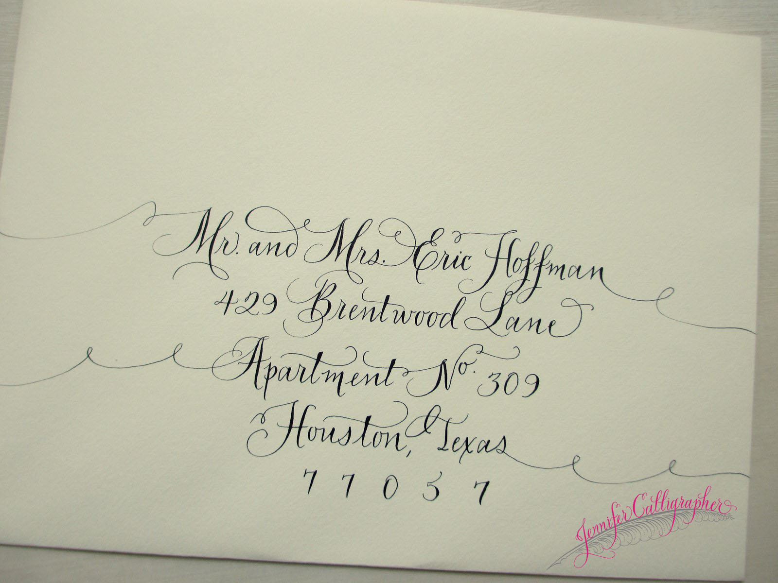Pricing Jennifer Calligrapher