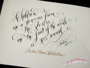 calligraphy for baby