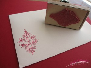 christmas rubber stamp in calligraphy jennifercalligrapher