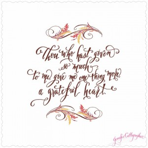 jennifer calligrapher fall quote