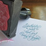 wedding rubber stamp jennifercalligrapher