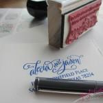 custom address stamp in calligraphy jennifercalligrapher