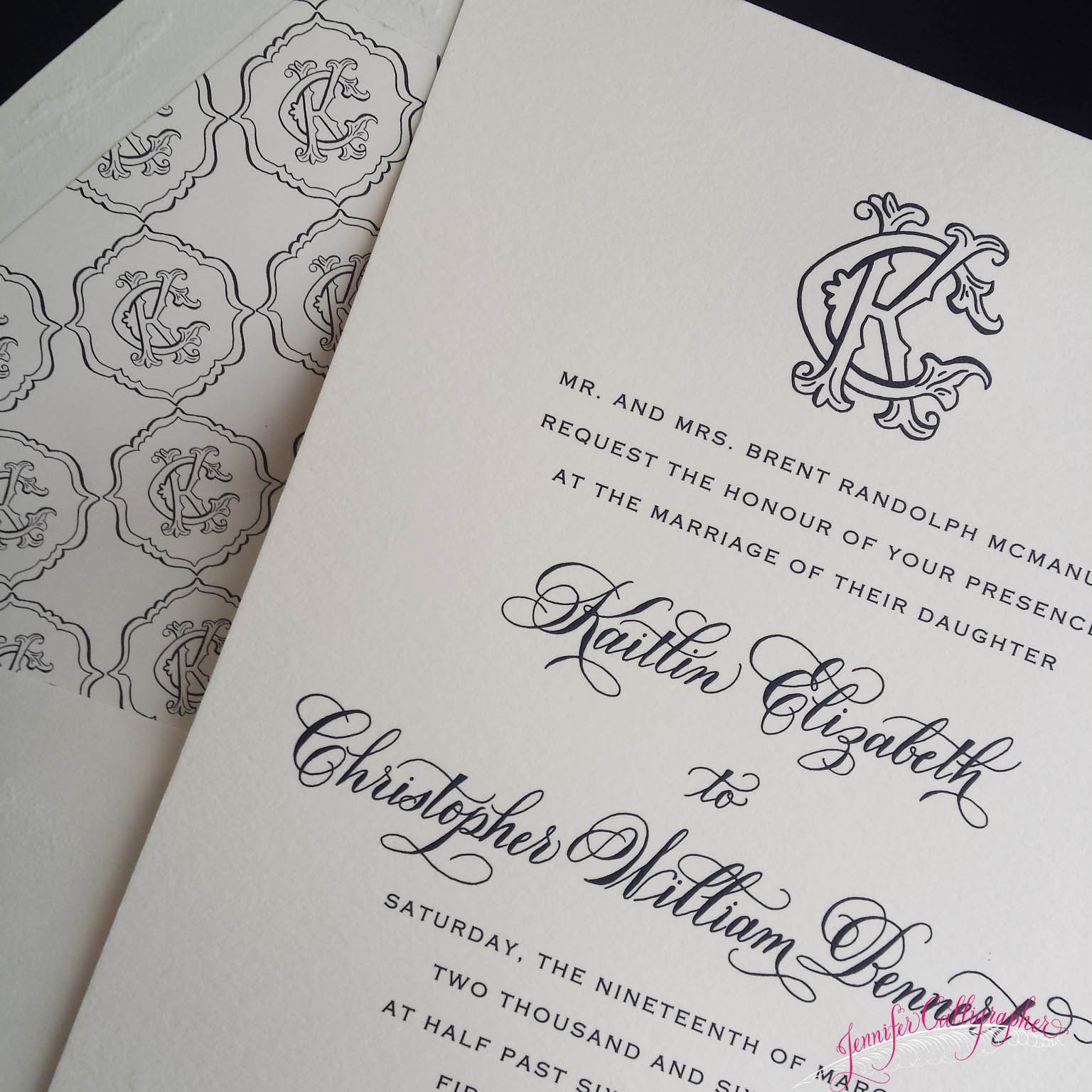 Jennifer calligrapher offering beautiful calligraphy for